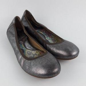 Born Ballet Metallic Flat Shoes Size 8.5 / 40